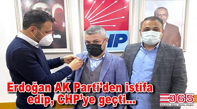 AK Partili Mehmet Erdoğan, CHP'ye katıldı