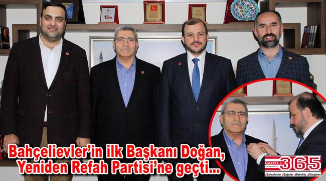 Bahçelievler'in ilk Belediye Başkanı Muzaffer Doğan, Yeniden Refah'a katıldı