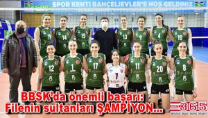 BBSK Kadın Voleybol Takımı, şampiyon oldu