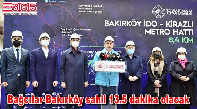 Bakırköy-Bahçelievler-Kirazlı metro hattı 2022'de hizmete giriyor