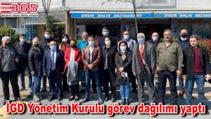 İstanbul Gazeteciler Derneği'nde görev dağılımı gerçekleşti