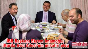İBB Başkanı İmamoğlu Bağcılarlı aile ile iftar yaptı