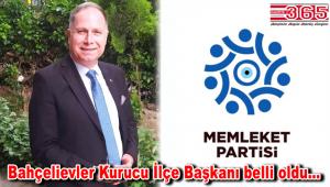 Memleket Partisi Bahçelievler Kurucu İlçe Başkanlığı görevine Eşref Eker getirildi