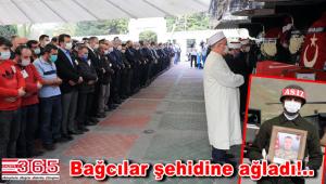 Şehit Uzman Er Müslüm Toprak son yolculuğuna uğurlandı