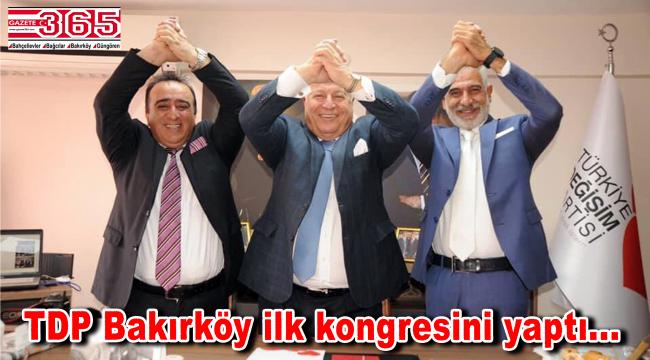 TDP Bakırköy İlçe Başkanlığı'na Murat Şarkbay seçildi