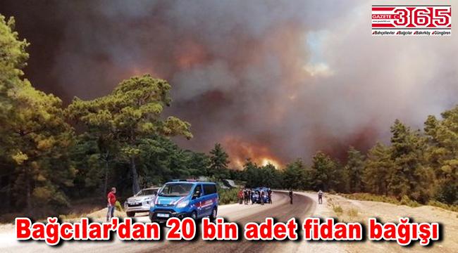 Bağcılar Belediyesi Manavgat'a 20 bin adet fidan bağışı yaptı