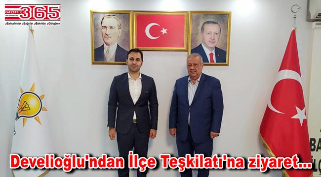 Osman Develioğlu, AK Parti Bahçelievler İlçe Başkanı Tuna ile görüştü