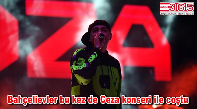 Ünlü rapçi Ceza Bahçelievler'de konser verdi