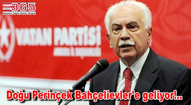 Vatan Partisi lideri Doğu Perinçek Bahçelievler'de esnaf ile buluşacak
