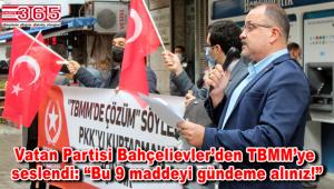 """Vatan Partisi'nden 9 maddelik """"Kürt Sorununa TBMM'de Çözüm"""" adlı kararı tasarısı"""
