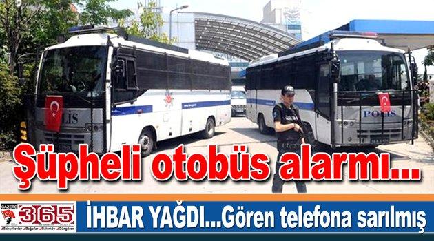 Bağcılar'da polisi alarma geçiren otobüs