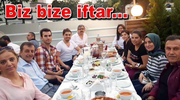 İlçenin medya mensupları iftar yaptı...