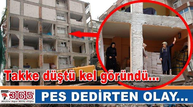 Gözlerine inanamadılar: 2 binaya tek duvar