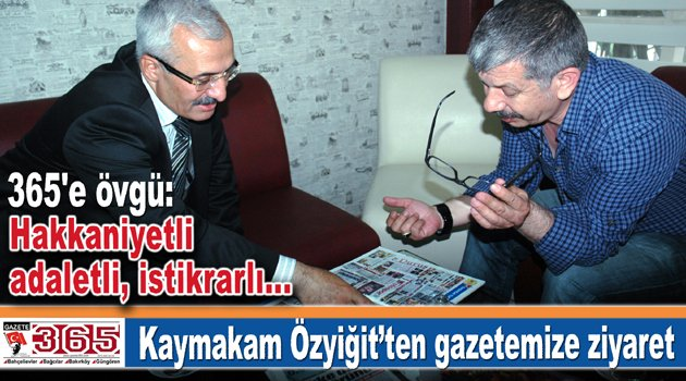 Kaymakam Mehmet Ali Özyiğit'ten Gazete365'e ziyaret…