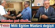 Basri Özbay, Milli Eğitim Müdürlüğü görevine geri döndü