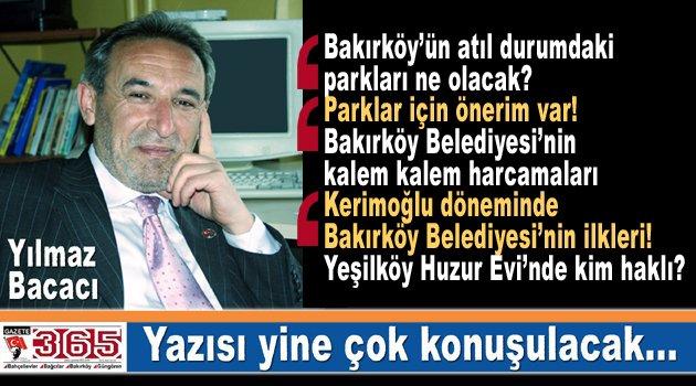 Yılmaz Bacacı yazdı: Aylardır atıl durumda bulunan Bakırköy'deki parklar ne olacak?