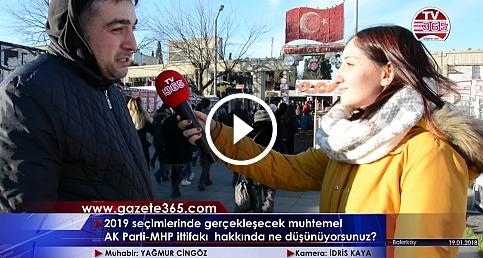AK Parti -MHP ittifakı için vatandaş ne diyor? (Bakırköy)