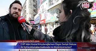 CHP lideri Kılıçdaroğlu'nun ÖSO açıklamalarına halk ne diyor? (Bakırköy)