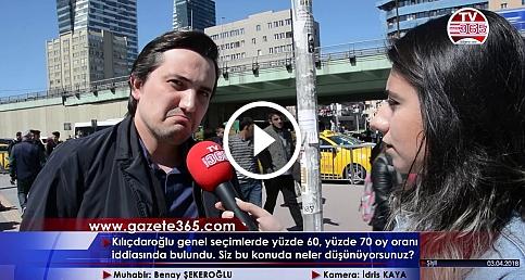 Kılıçdaroğlu'nun %60, %70 oy oranı iddiası için halk ne dedi? Vatandaşa mikrofon uzattık...