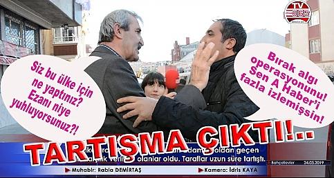 AK Parti'yi savunan adama dayanamadı karşılık verdi, tansiyon yükseldi